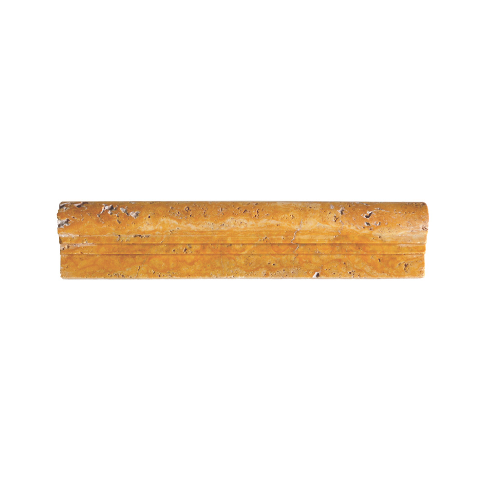 Gold Travertine Chair Rail Ogee 2 Molding-moldings sale- Atlantic Stone Source