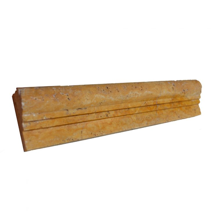Gold Travertine Chair Rail Ogee 2-moldings sale- Atlantic Stone Source