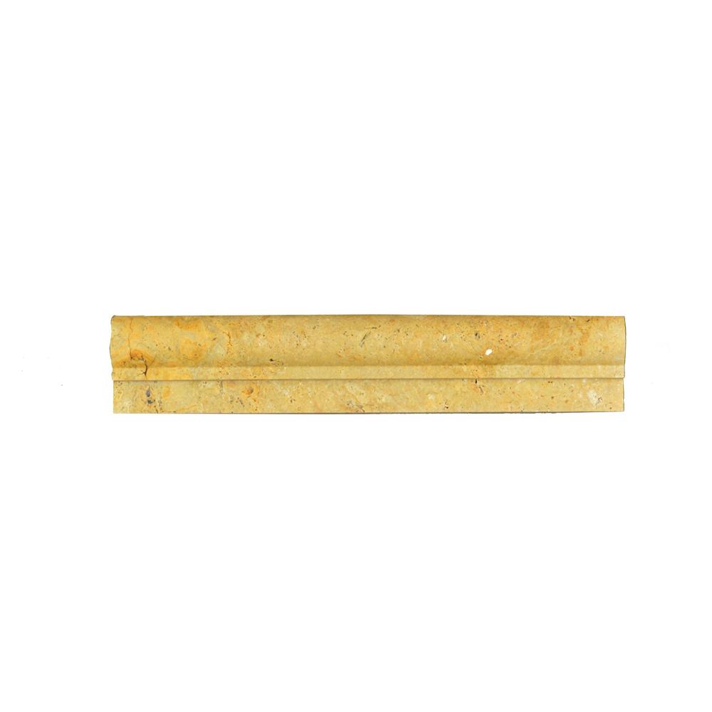 Gold Travertine Chair Rail Ogee 1 Molding-moldings sale-Atlantic Stone Source