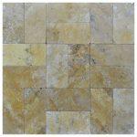 Gold Tumbled Travertine Pavers 6x12