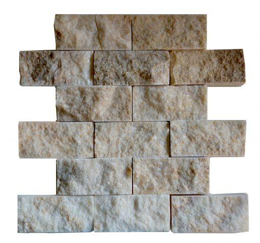 Honey Onyx Split Face Mosaic Tiles 2x4