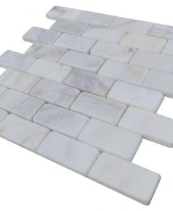 Imperial White Tumbled Marble Mosaic Tiles (2)