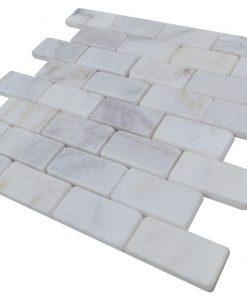 Imperial White Tumbled Marble Mosaic Tiles (2)