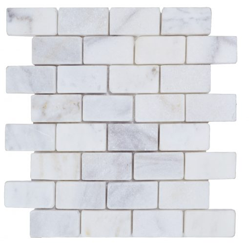 Imperial White Tumbled Marble Mosaic Tiles