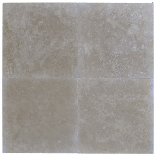 LITO MEDIUM 24X24 TRAVERTINE TILE HONED AND FILLED -Travertine tiles sale-Atlantic Stone Source