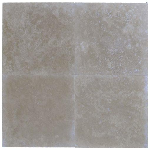 LITO MEDIUM 24X24 TRAVERTINE TILE HONED AND FILLED -Travertine tiles sale-Atlantic Stone Source