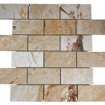 Leonardo Polished Travertine Mosaic Tiles 2x4