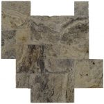 Roma Classic Tumbled French Pattern Travertine Pavers