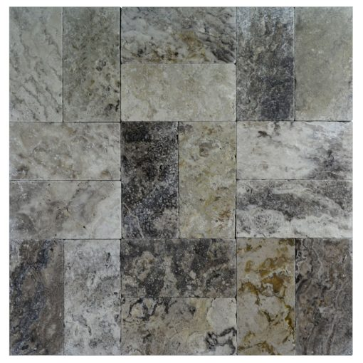 Roma Classic Tumbled Travertine Pavers 6x12