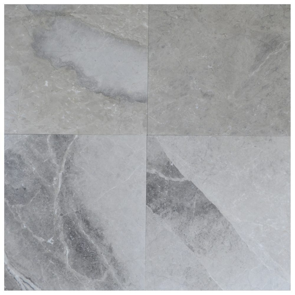 silver gray polished marble tiles 35x35