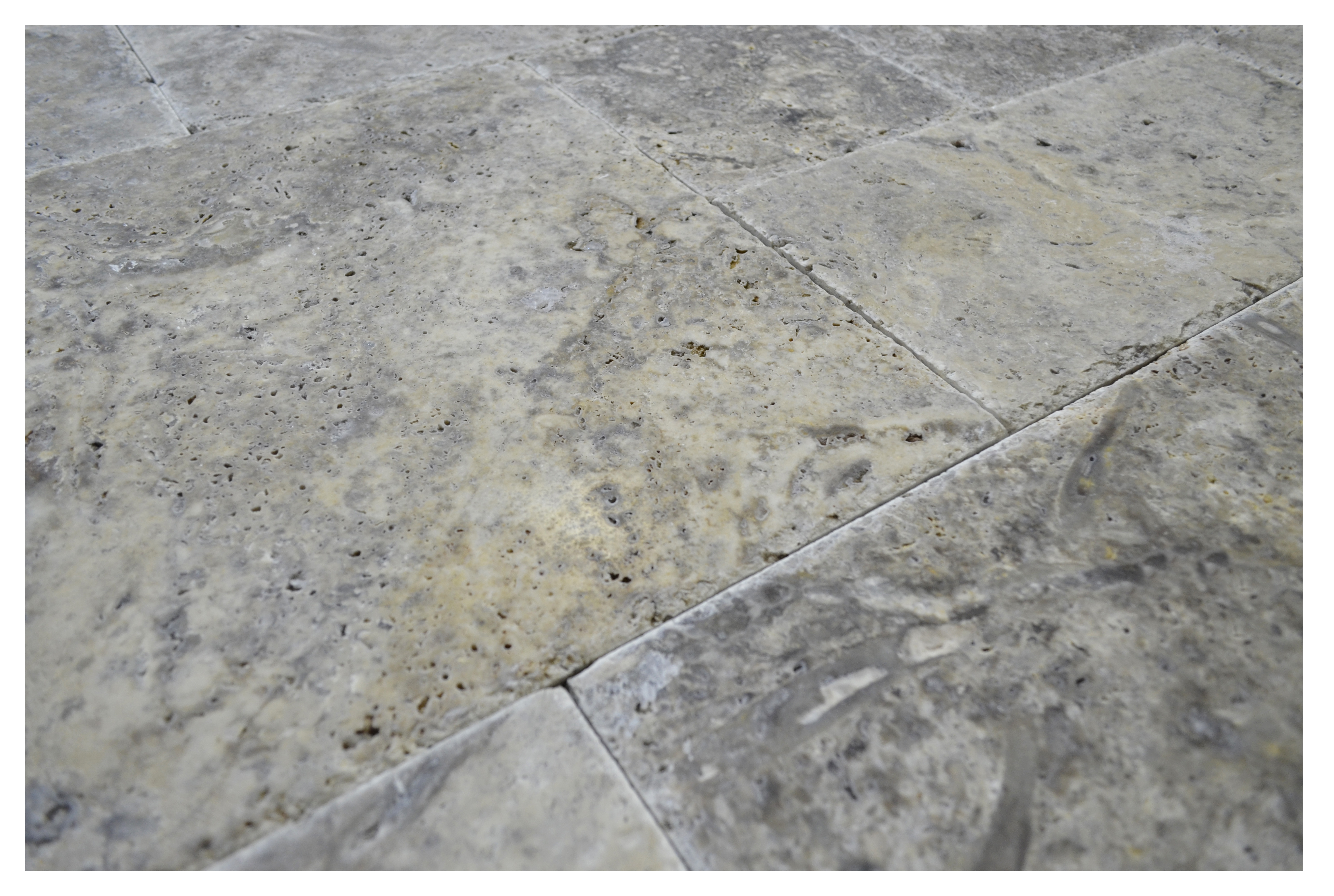 SILVER TRAVERTINE FRENCH PATTERN BRUSHED AND CHISELED-Travertine tiles sale