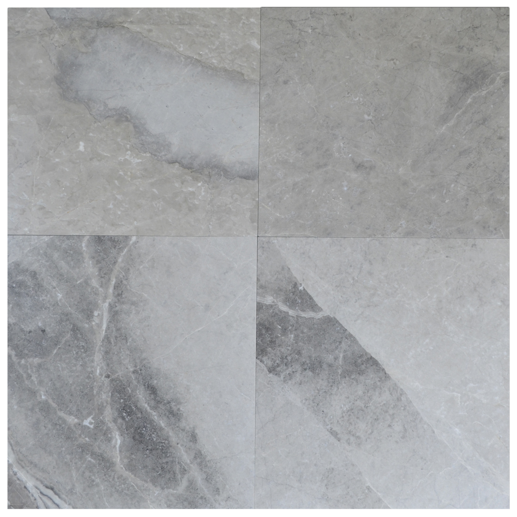 Silver Gray Polished Marble Tiles 35x35-marble sale-Atlantic Stone Source