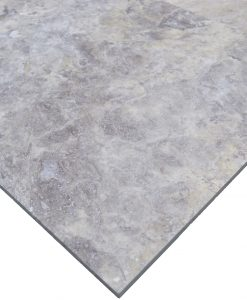 Silver Honed and filed 18x18-Travertine tiles sale-Atlantic Stone Source