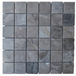 Silver Marble Mix Polished Mosaic Tiles 2x2