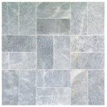 Sky Blue Tumbled Marble Pavers 6x12