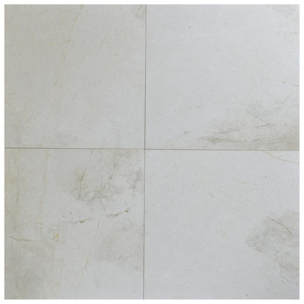 Snow White Classic Polished Marble Tiles 24x24 -Natural