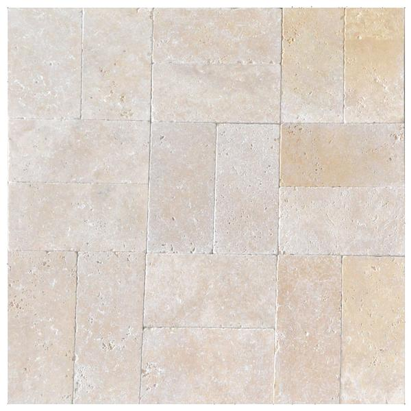 Super Light Tumbled Travertine Pavers 6x12