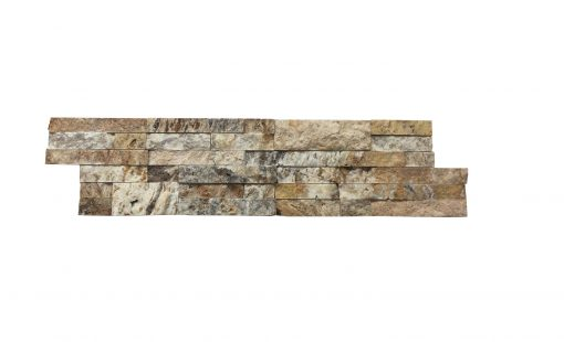 Tiger Skin Linear Split Face Travertine Mosaic Tiles 6x24