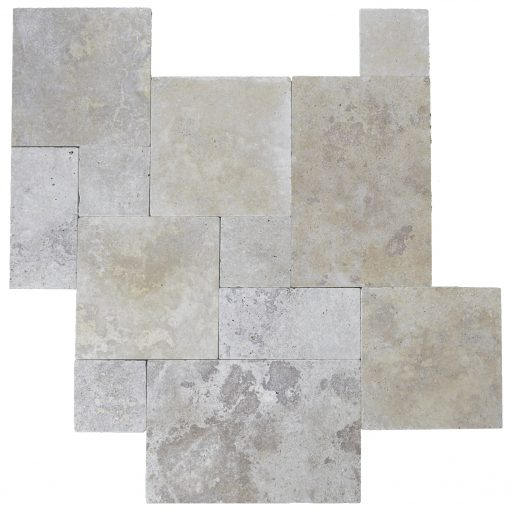 Walnut Tumbled French Pattern Travertine Tiles-Travertine tiles sale-Atlantic Stone Source