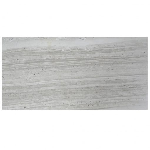 Wooden Gray Polished Limestone Tiles 12x24