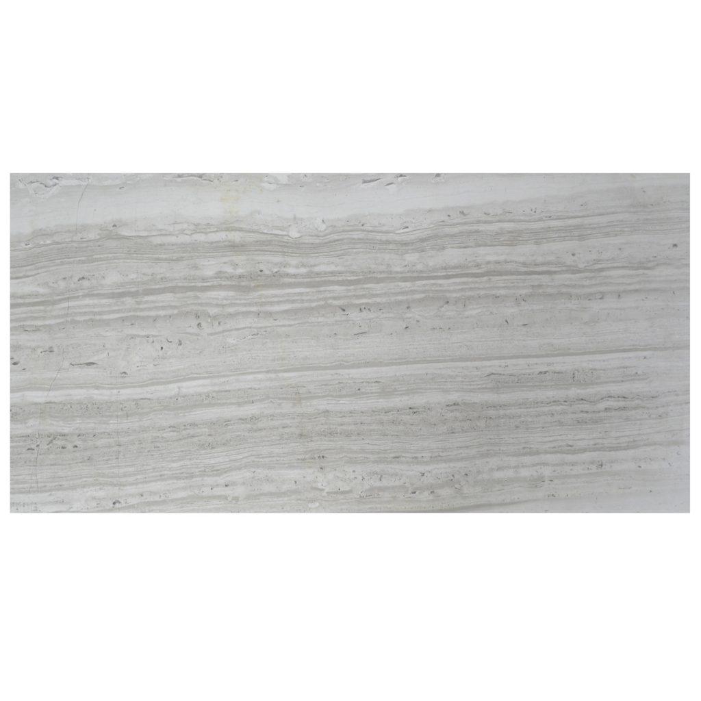 Wooden Gray Polished Limestone Tiles 18x36