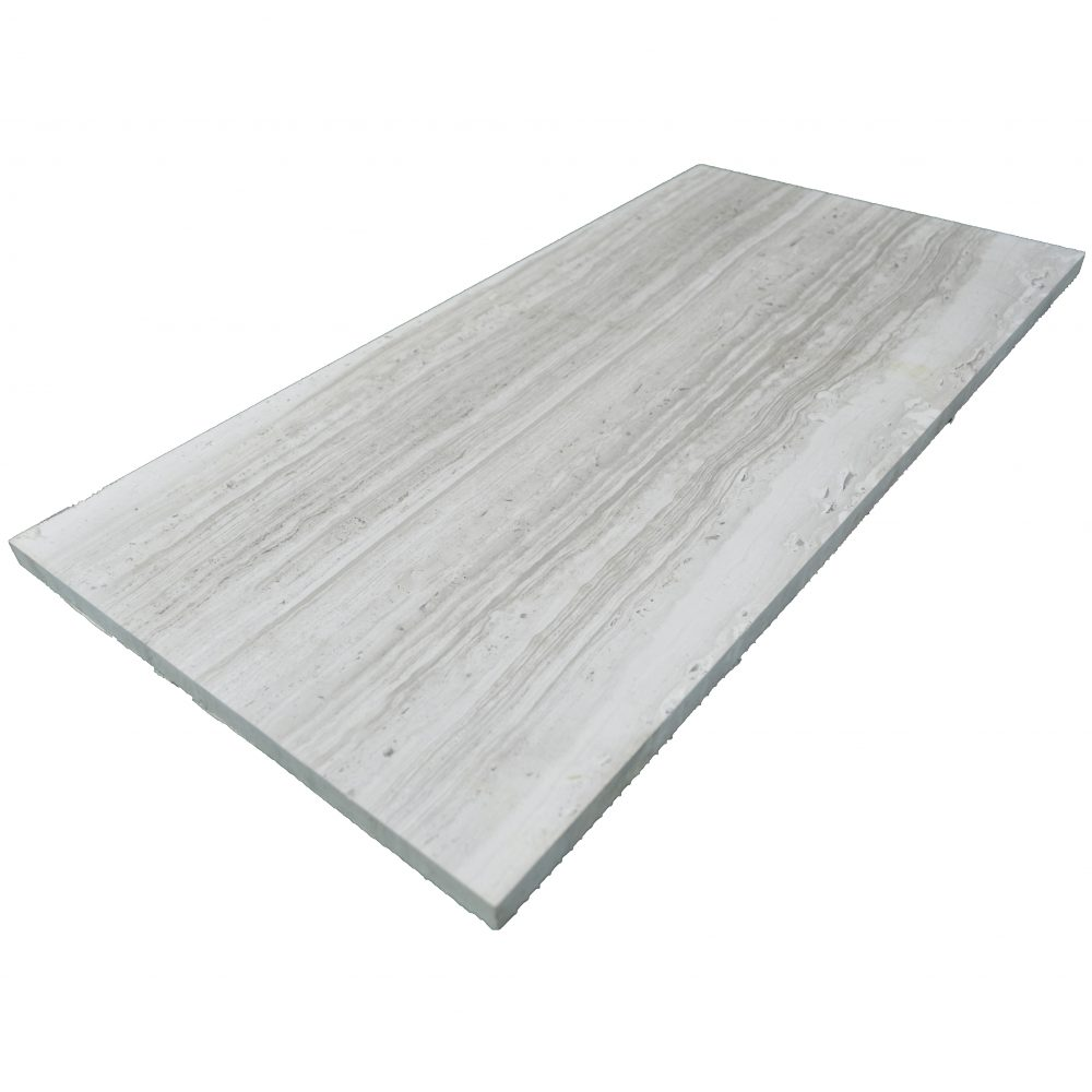 Wooden Gray Polished Limestone Tiles