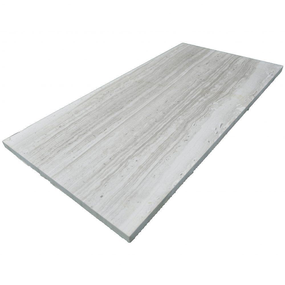 Wooden Gray Polished Limestone Tiles