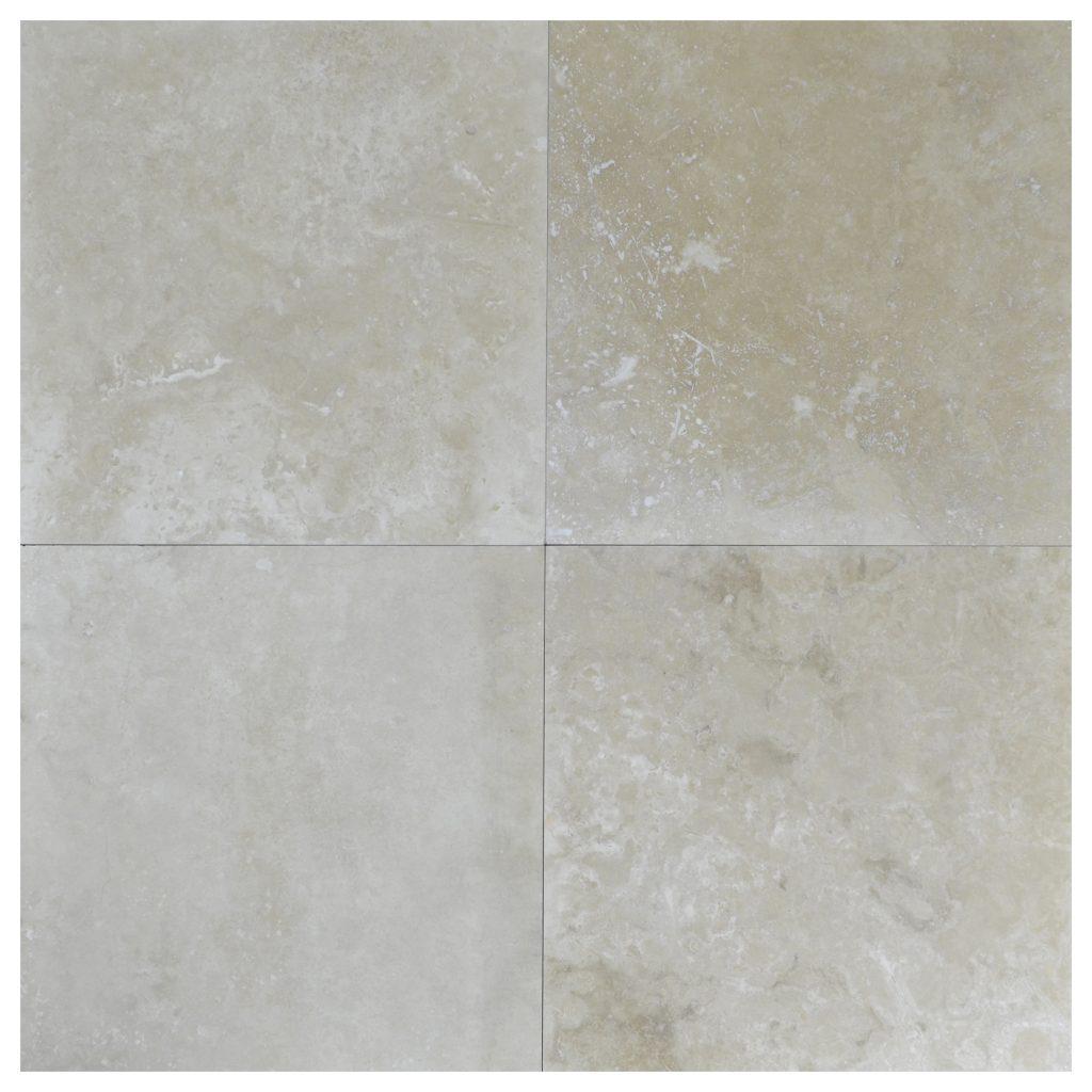 Ivory Light Honed Filled Travertine Tiles 18x18: Amon Light Honed Filled Travertine Tiles 24x24