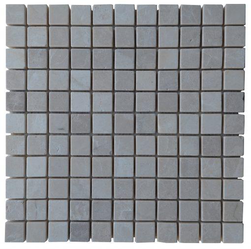 Botticino Beige Tumbled Marble Mosaic Tiles 1x1