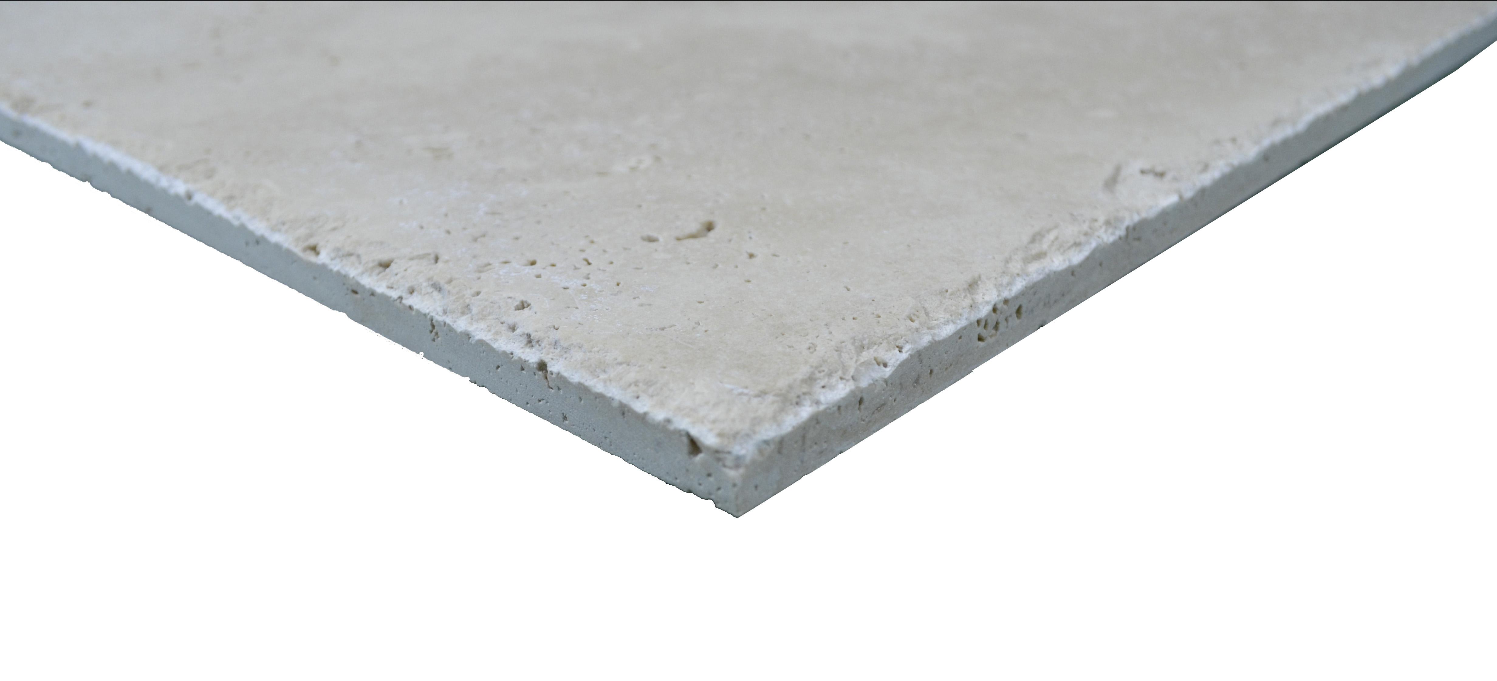 Super Light Brushed Chiseled Travertine Tiles 24x24-Travertine tile sale-Atlantic Stone Source