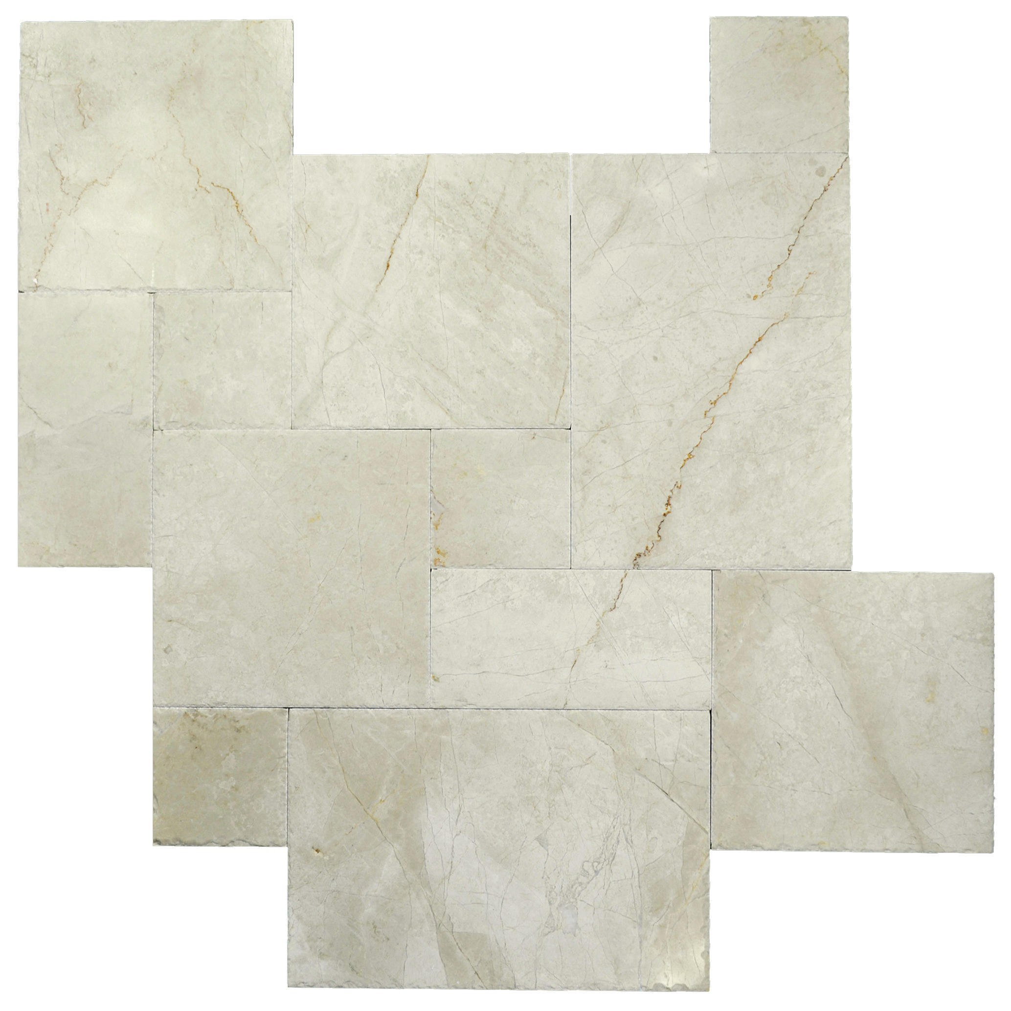 Cream Nouva Brushed Chiseled French Pattern Marble Tiles-Marble sale-Atlantic Stone Source
