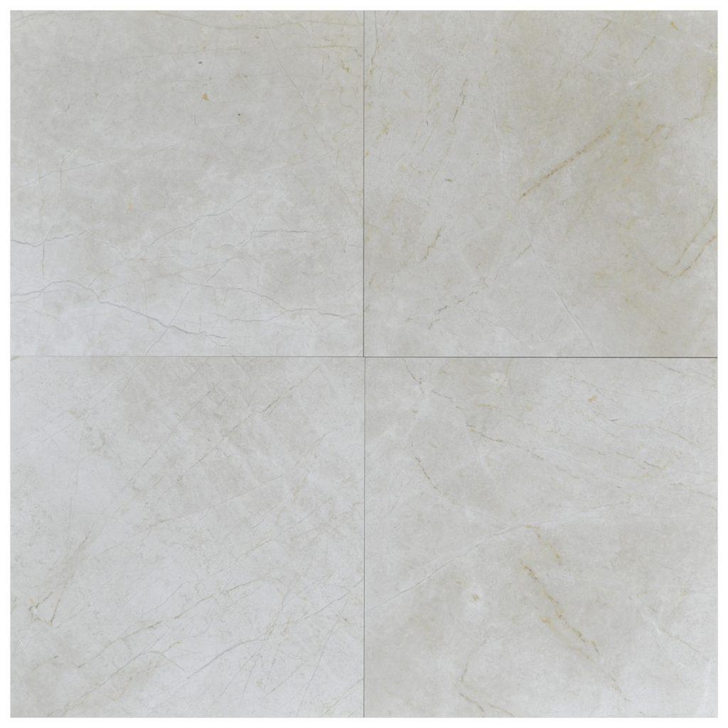 Cream Nouva Polished Marble Tiles 18x18