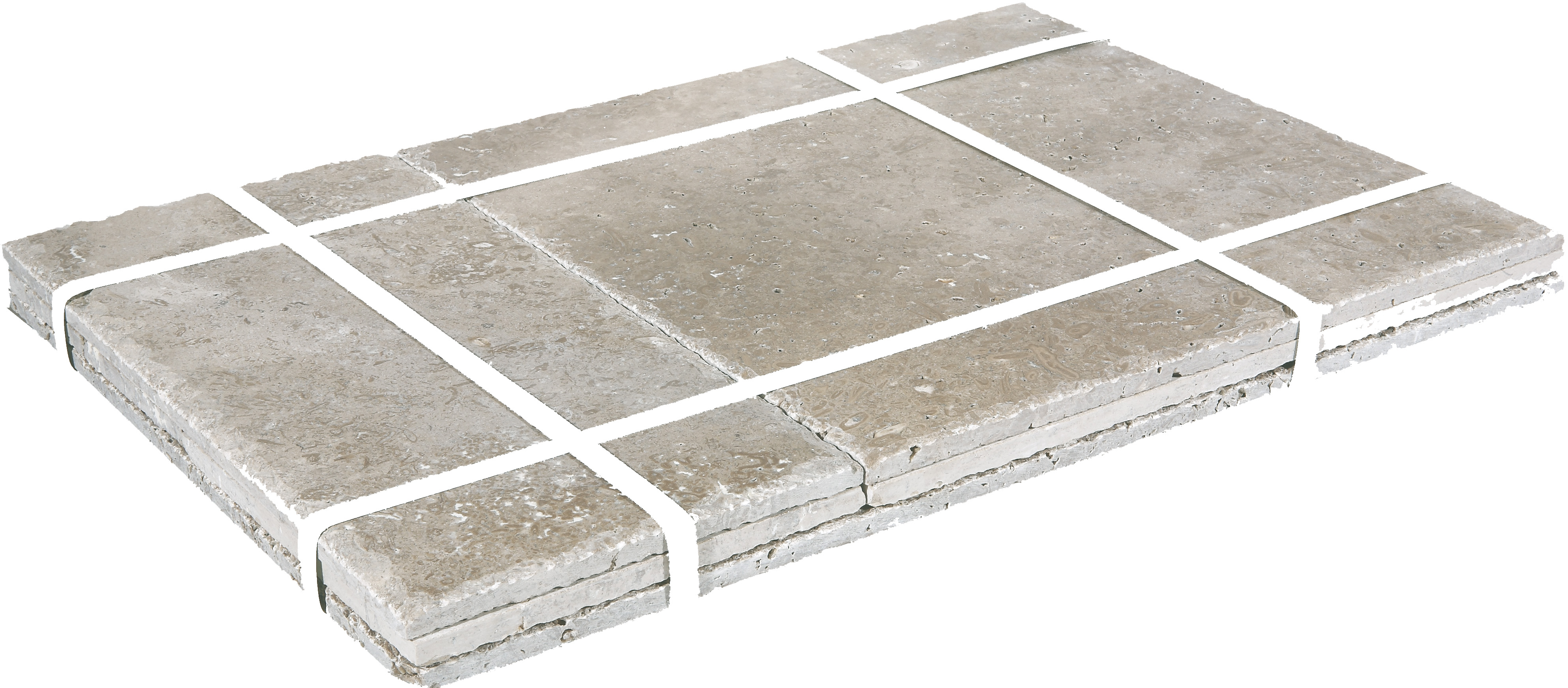 noce brushed and chiseled french pattern travertine tiles-Travetine sales