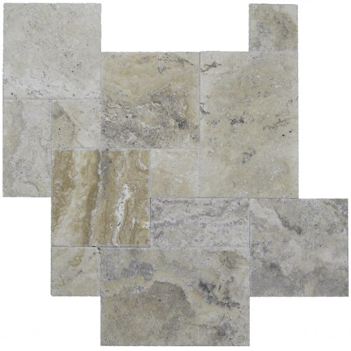 Philadelphia Brushed Chiseled French Pattern Travertine Tiles-Travertine tiles sale