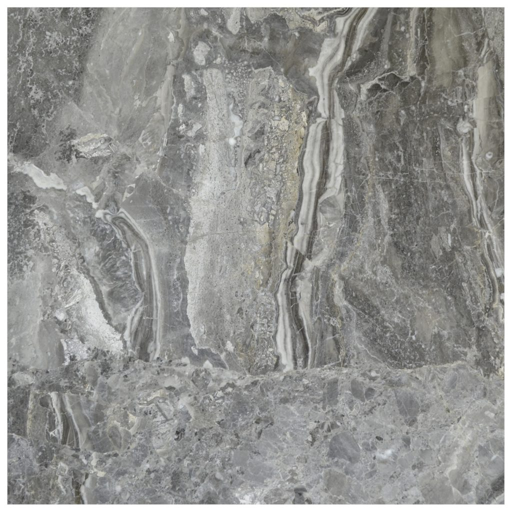 Silver Fantasy Polished Marble Tiles 18x18