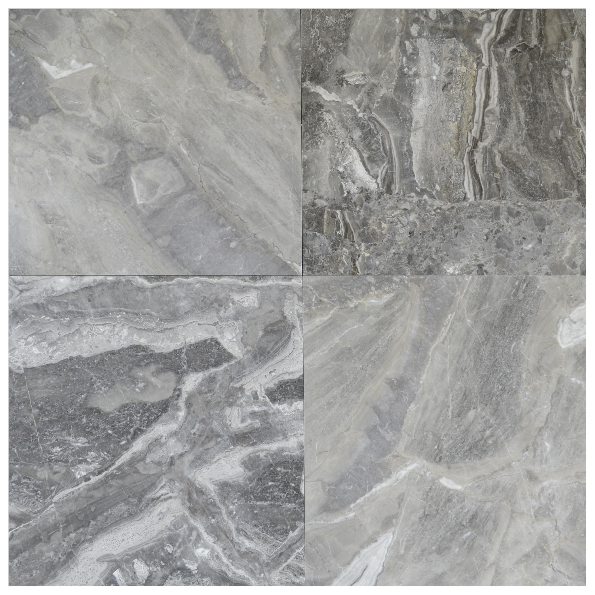 silver fantasy polished marble tiles 18x18-marble sale-Atlantic Stone Source (2)