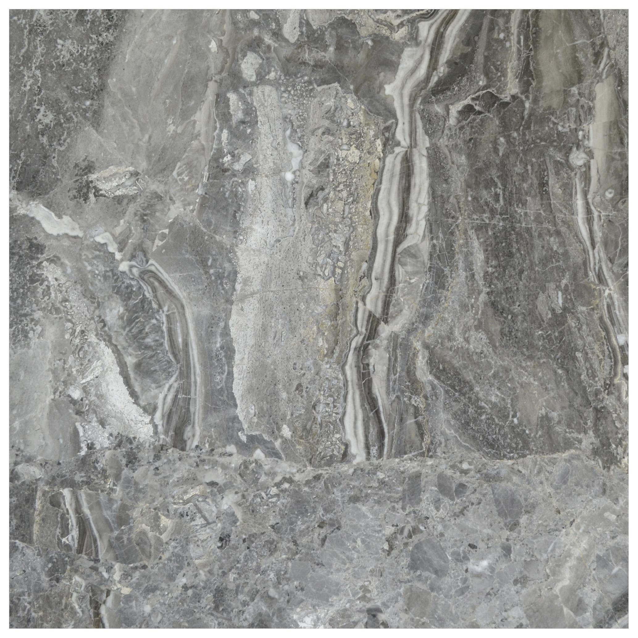 Silver Fantasy Polished Marble Tiles 18x18 Natural Stone Tiles