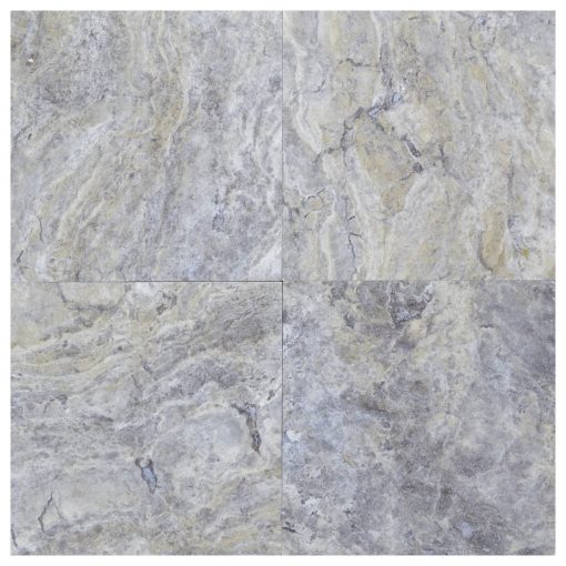 silver honed and filled travertine tiles 18x18-Travertine tiles sale-Atlantic Stone Source (2)