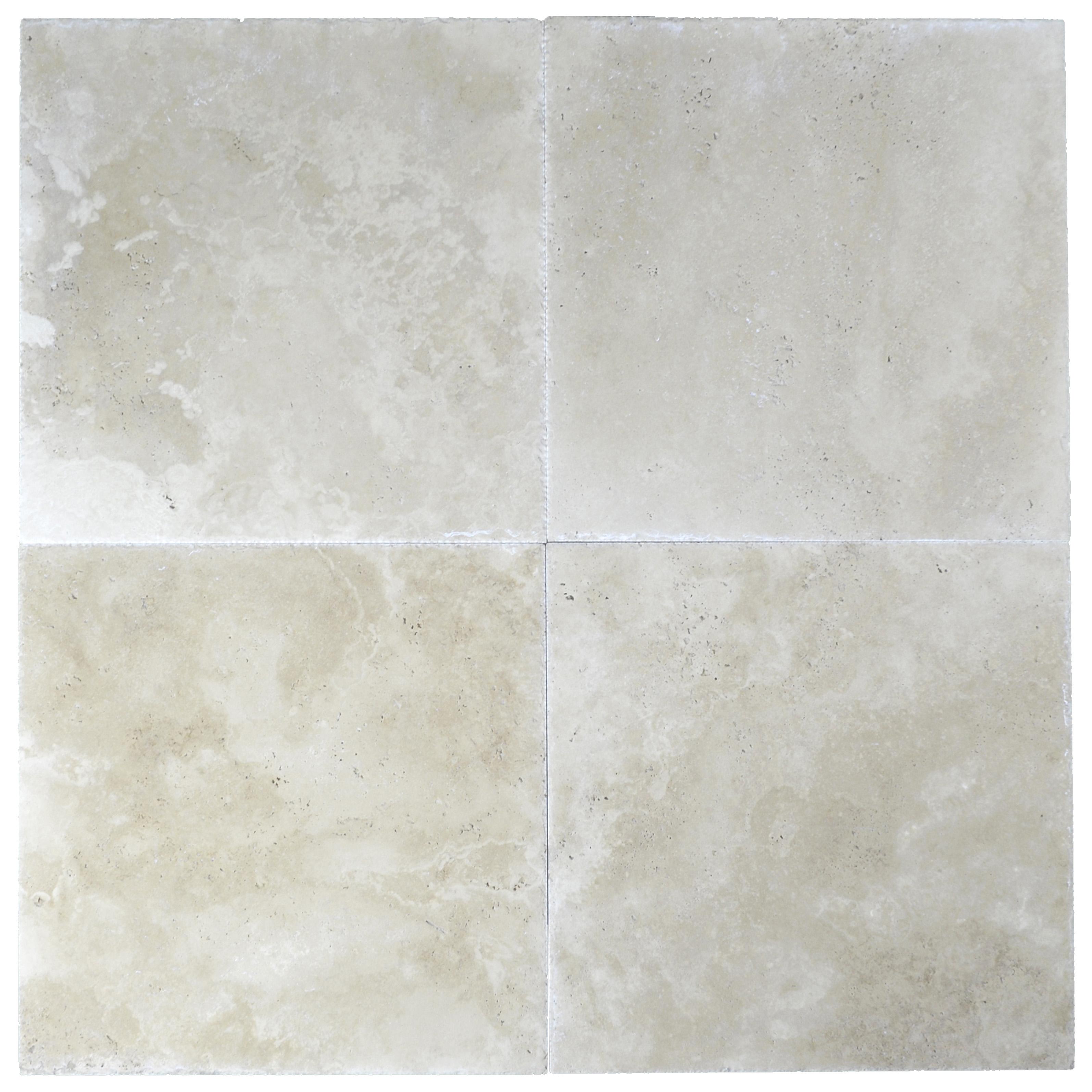 super light brushed and chiseled travertine tile 18x18 -Travertine sales-Atantic Stone Source