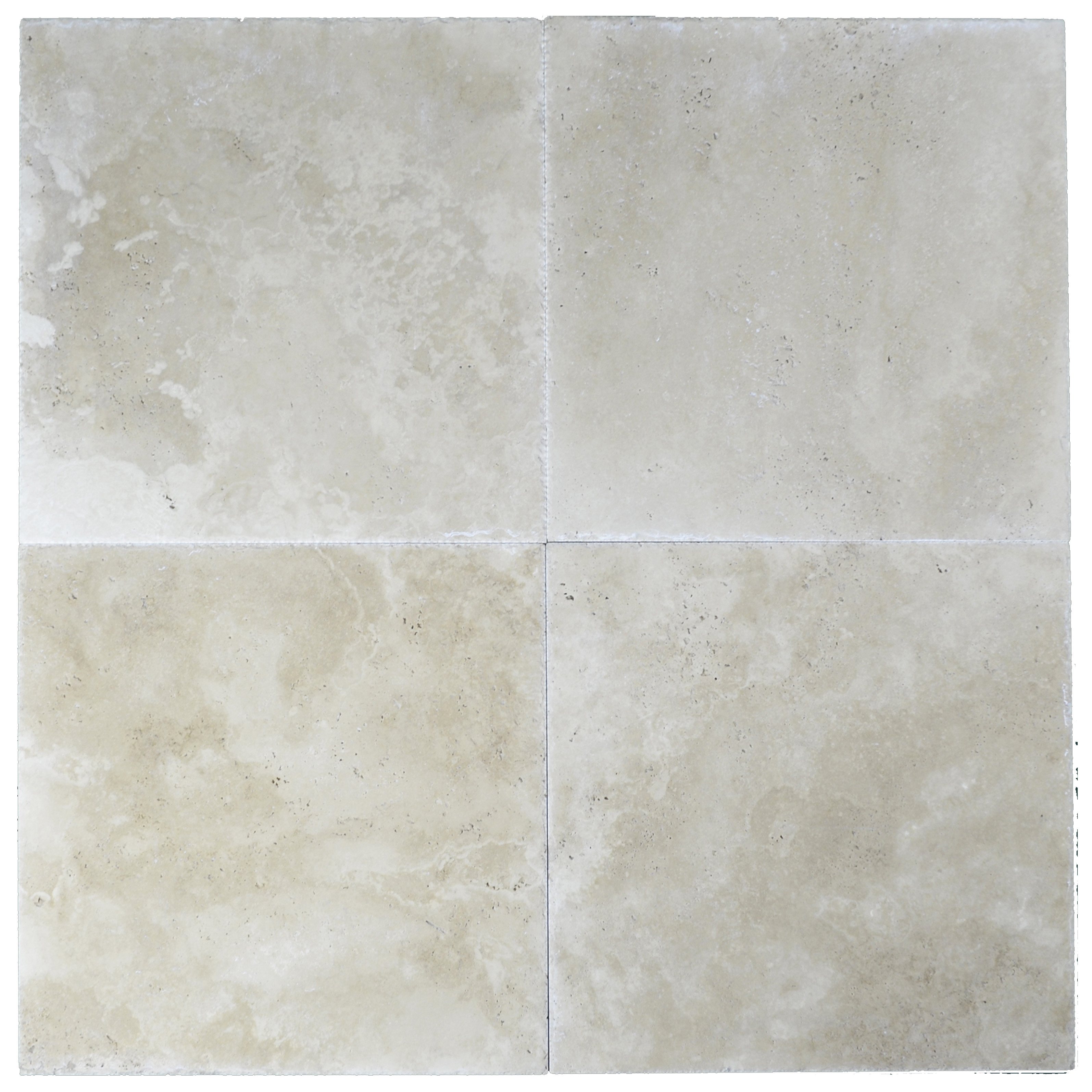 Super Light Brushed Chiseled Travertine Tiles 24x24 - Natural Stone ...