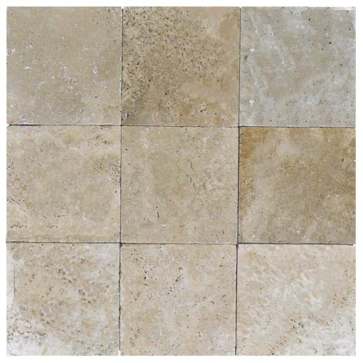 Walnut Tumbled Travertine Pavers 8x8