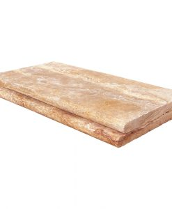 Antique Blend Bullnose Travertine Pool Copings 12x24-pool copings sale-Atlantic Stone Source