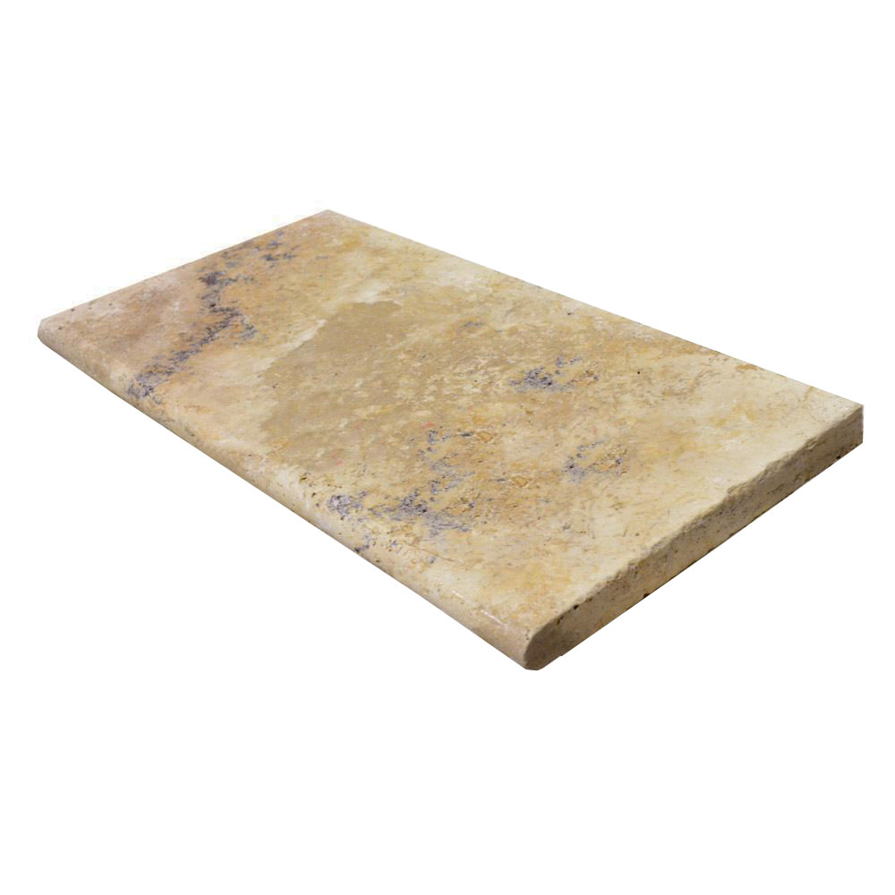 Country Classic Bullnose Travertine Pool Copings 12x24-pool copings sale-Atlantic Stone Soure