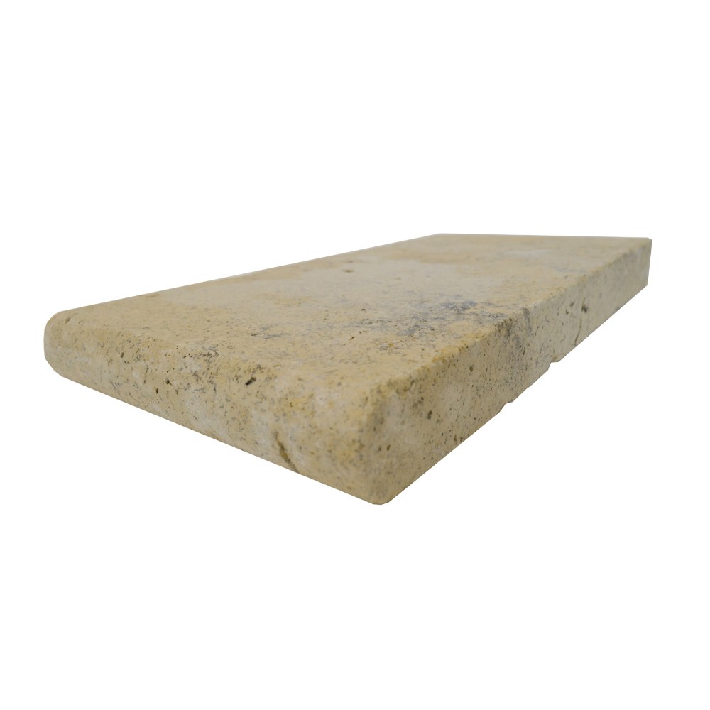 Country Classic Bullnose Travertine Pool Copings 6x12