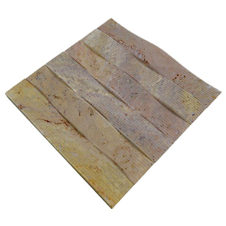 Gold Travertine Bullnose Channel Wave Molding-moldings sale-Atlantic Stone Source