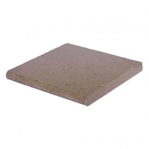 Noce Bullnose Travertine Pool Copings 12x12-pool copings sale-Atlantic Stone Source