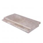 Toscana Bullnose Travertine Pool Copings 12×24-pool copings sale-Atlantic Stone Source
