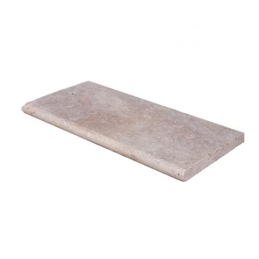 Toscana Bullnose Travertine Pool Copings 12x24-pool copings sale-Atlantic Stone Source