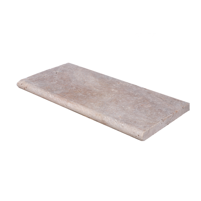 Toscana Bullnose Travertine Pool Copings 12x24-pool copings sale-Atlantic Stone Source