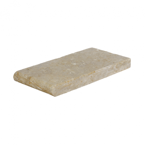 Toscana Bullnose Travertine Pool Copings 6x12-pool copings sale-Atlantic Stone Source